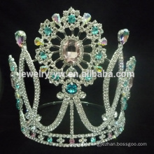 Large hot wholesale Halloween pumpkin pageant custom crystal tiara crown