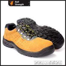 Low Cut Suede Leather Safety Shoe with PU Injection (SN5301)