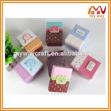 Boîte cadeau à la main exquise, boite cadeau de mariage, boîte à emballage aux bonbons