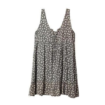 Verano mujeres sin mangas con cuello en V vestidos cortos casuales