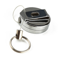 Round Shape Metal Case Personalized Business Yoyo ID Card Holder With Your Customized Logo