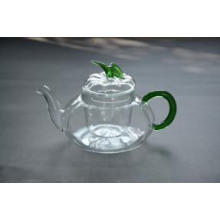 Hot Selling Clear Heat Resistant Borosilicate Handblown Glass Teapot with Infuser