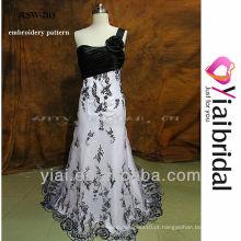 RSW203 Vestidos de casamento preto e branco