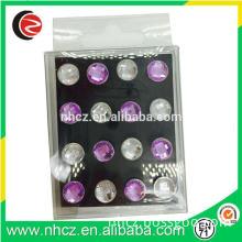Colorful Acrylic Diamond Push Pin Set