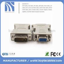 Oro de alta calidad plateado / niquelado DVI a VGA adaptador DVI macho a VGA hembra adaptador