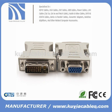 High quality gold plated/Nickel plated DVI to VGA Adapter DVI Male to VGA Female Adapter