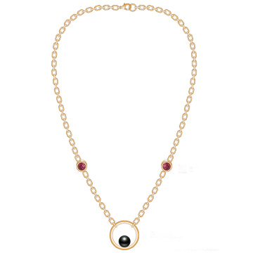 2018 Modern Gold Chain Pearl Necklaces