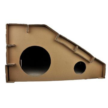 Foldable Cardboard Cat  House