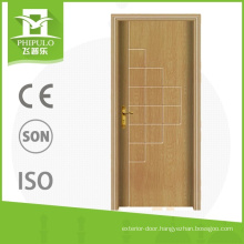 High quality pvc interior custom door with fashionable design from alibaba china