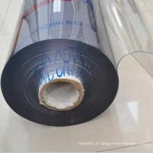 Folha plástica flexível colorida do PVC transparente