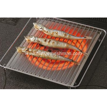 Stainless steel barbecue grill net