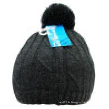 Bonnet tricoté avec POM POM NTD39