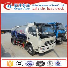 Mini Dongfeng chasis de succión de camiones de aguas residuales