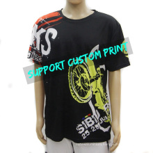 All Over Sublimation Printing Tshirt Crew Neck Short Sleeve Men T-Shirt Print