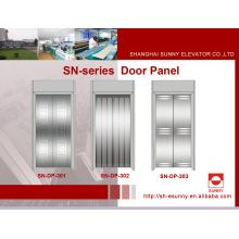 Panel de puerta de acero inoxidable para elevador (SN-DP-301)