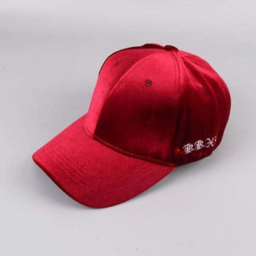 Embrodiery 6 Panel Baseball Cap Velvet Baseball hats