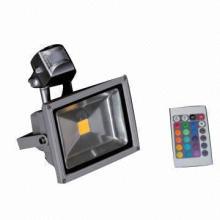 Impermeável IP65 luz de inundação ao ar livre quadrada LED 10W 30W com controle remoto