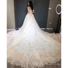 Роскошные золото свадебное платье свадебное платье 2018