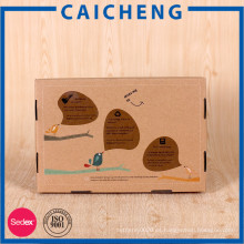 Caja de almacenamiento de cartón corrugado de empaquetado personalizado fuerte de Kraft Paper