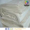 Unbleach grau polierte Baumwolle textilen Flächengebilde