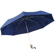 3-fach einfarbig hellblau winddichter Amazon leichter Regenschirm