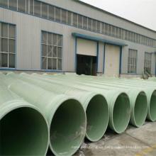 Tubería 2017 del tratamiento de aguas del poliéster de la resina de epoxy de las ventas más calientes FRP / GRP de la fibra de vidrio