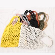Multicolor Macrame Crochet Lady Hand Bags Bohemian Woven Beach Tote Bags