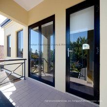 Feelingtop doble acristalamiento puertas interiores de aluminio con bisagras (FT-D80)
