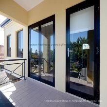 Portes à charnières intérieures en aluminium à double vitrage Feelingtop (FT-D80)