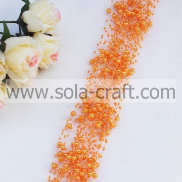 3MM&8MM ABS Plastic Pearl Beaded Garland Wedding Decoration Party Rope 1.3M
