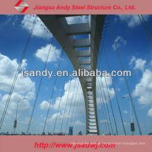 Estrutura do quadro espacial Estrutura de aço Ponte Cavalete de aço