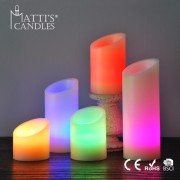 Beautiful pillar candle rustic led color candle wick/led tealight candle/candle led light