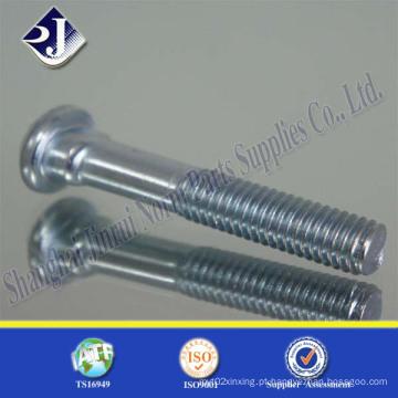 Parafuso de esteira (zincado) com pescoço oval Gr8.8