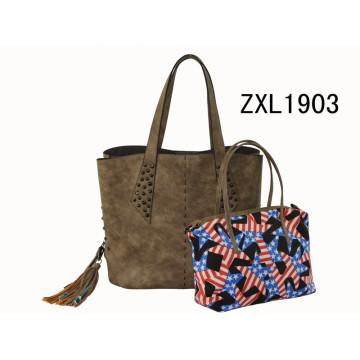 Itália Designer Marcas Logo Fabricantes Lady PU Leather Handbag (ZXL1903-3)