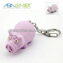 Promotion Pig LED Sound Keychain