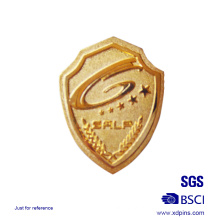 Metal Shield Shaped Sheriff Badge Logo Pin Badge para venda