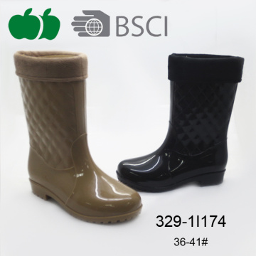 2016 High Quality Fashion Waterproof Lady Pvc Rain Boot