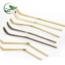 Barato artesanal de bambu roxo Matcha colher de chá colher de sorvete (Chashaku)