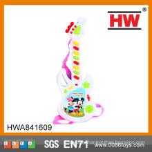 Самые популярные пластиковые игрушки электрическая гитара для детей Музыкальный инструмент