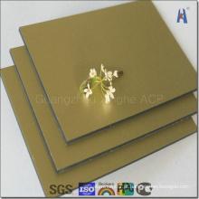 Lightweight Mirror Painel composto de alumínio para revestimento decorativo (XH005)