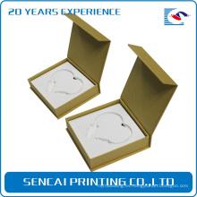 Caja de papel de embalaje elegante del libro del collar del diseño elegante de SenCai