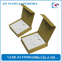 SenCai elegant design Necklace book shaped packing paper box