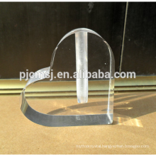 wholesale Custom heart-shaped logo crystal glass vase for table centerpieces