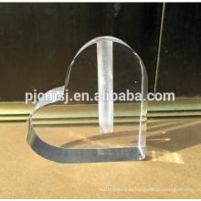 Venda Por Atacado vaso de vidro de cristal logotipo em forma de coração personalizado para centros de mesa