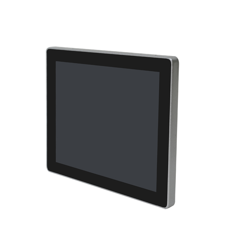 Square screen PCAP touch monitor front side view