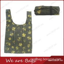 Best Promotion Polyester Printed Folding Reusable Shopping Bag for Women