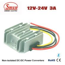 Fuente de alimentación del coche del convertidor de 12V-24VDC 3A DC-DC con IP68 impermeable
