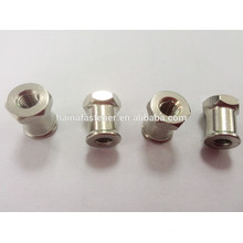 Stainless steel nonstandard nut, round nut with hex point