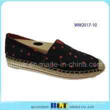 Высокое качество холст DOT шаблон обувь Повседневная обувь