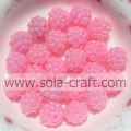 10MM Popular Style Pink Color Solid Plastic Beads For Jewelry Parts